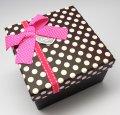 Gift Box 3 in 1 - Square  (Pink Polka)